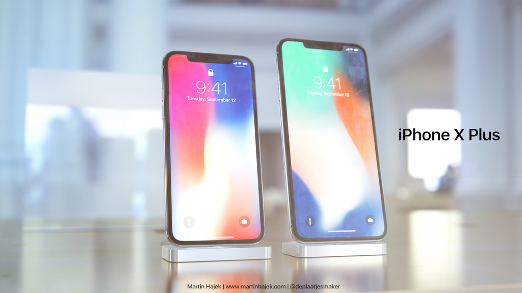 Concepto de diseño del iPhone X Plus