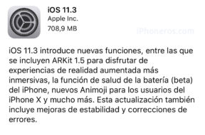 iOS 11.3 ya disponible