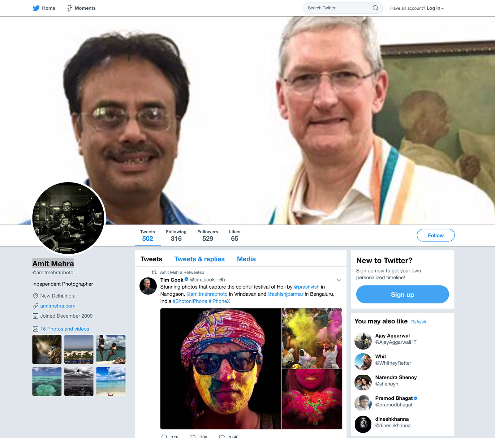 Amit Mehra con Tim Cook