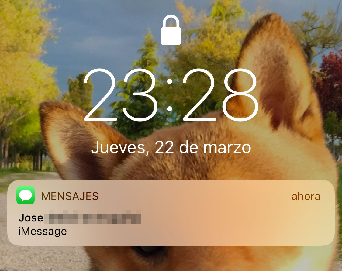Notificación escondida