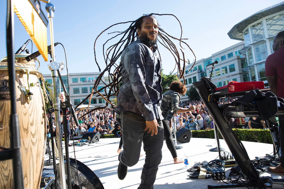 Ziggy Marley en el Campus de Apple