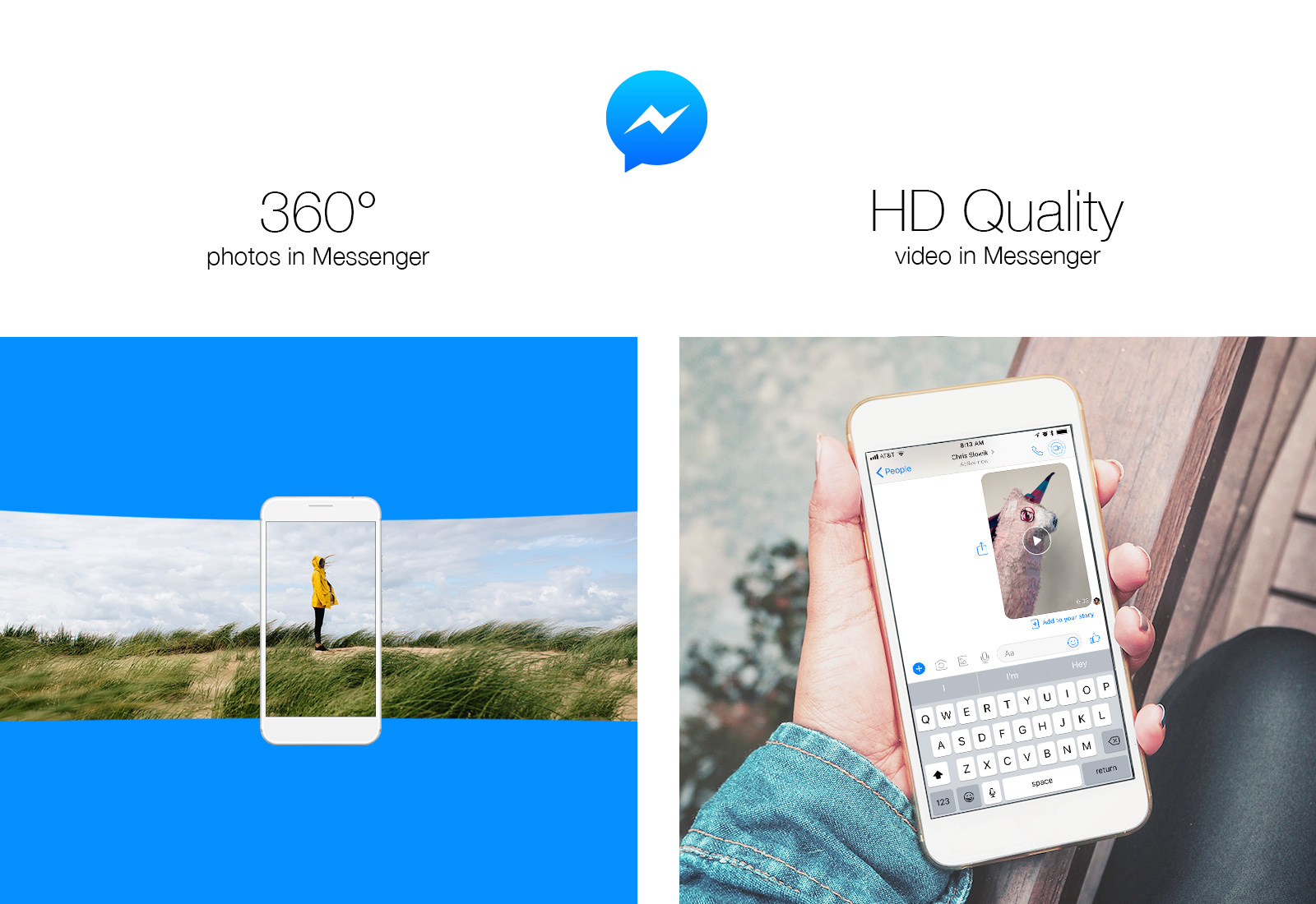 Facebook Messenger compatible con fotos 360º