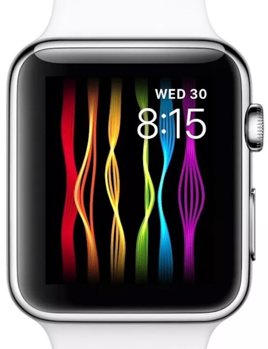 Apple Watch con la animación LGBT