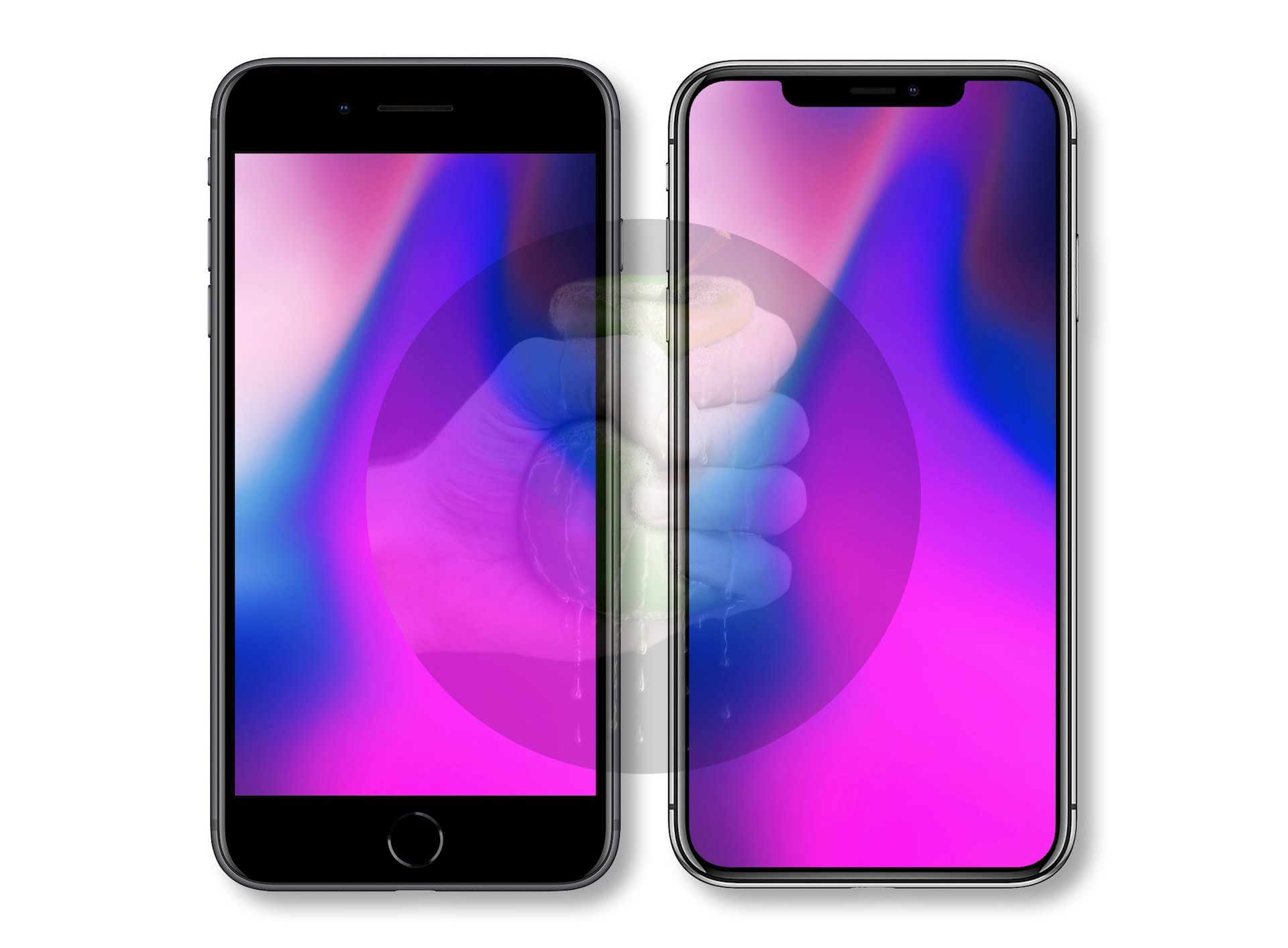 iPhone X Plus comparado con el iPhone 8