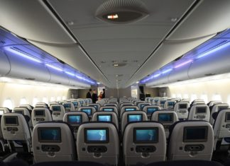 Interior del Airbus A380 de British Airways