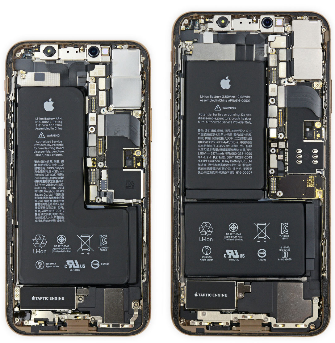 iPhone XS y XS Max por dentro