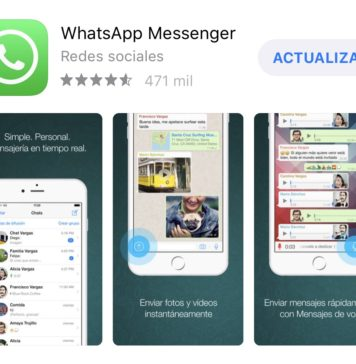 WhatsApp disponible para actualizarse