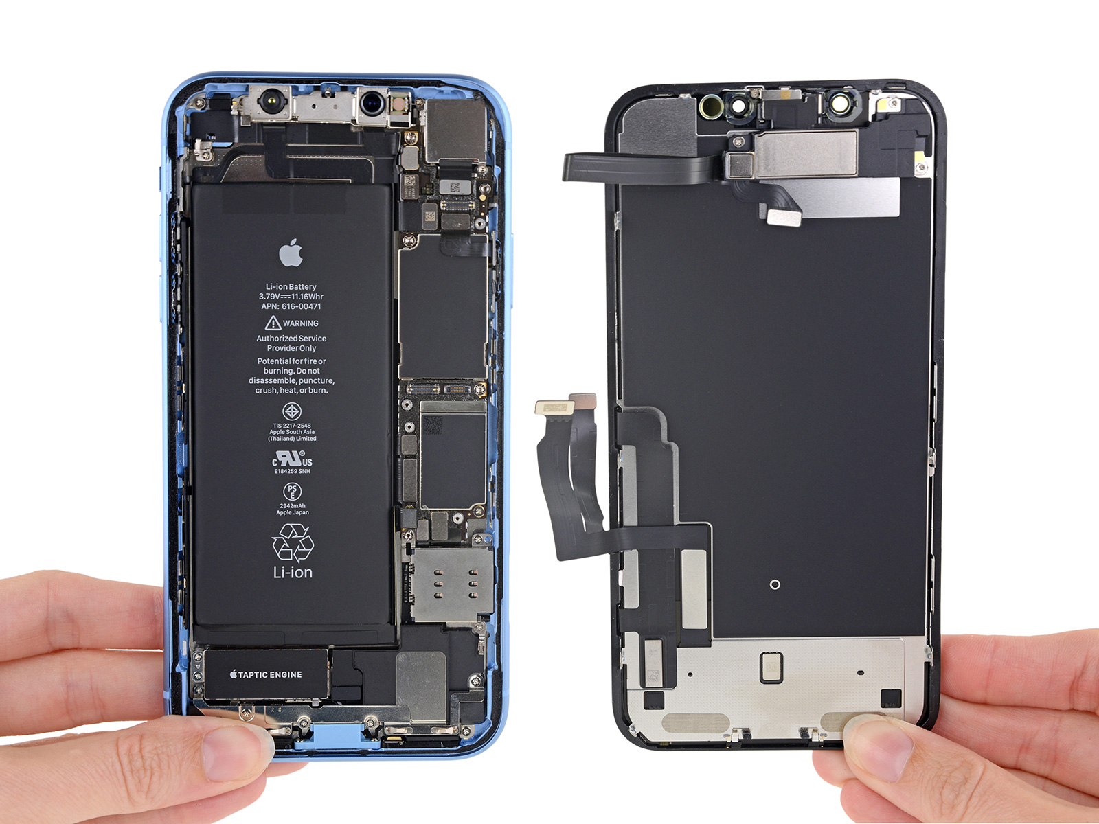 iPhone XR por dentro (vía iFixit)