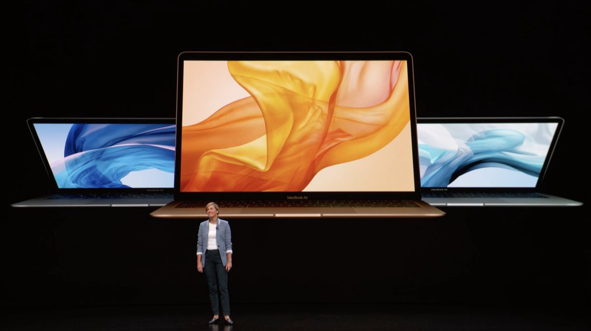 MacBook Air: Evento de presentación del iPad Pro todo pantalla, del Mac mini y del MacBook Air Retina