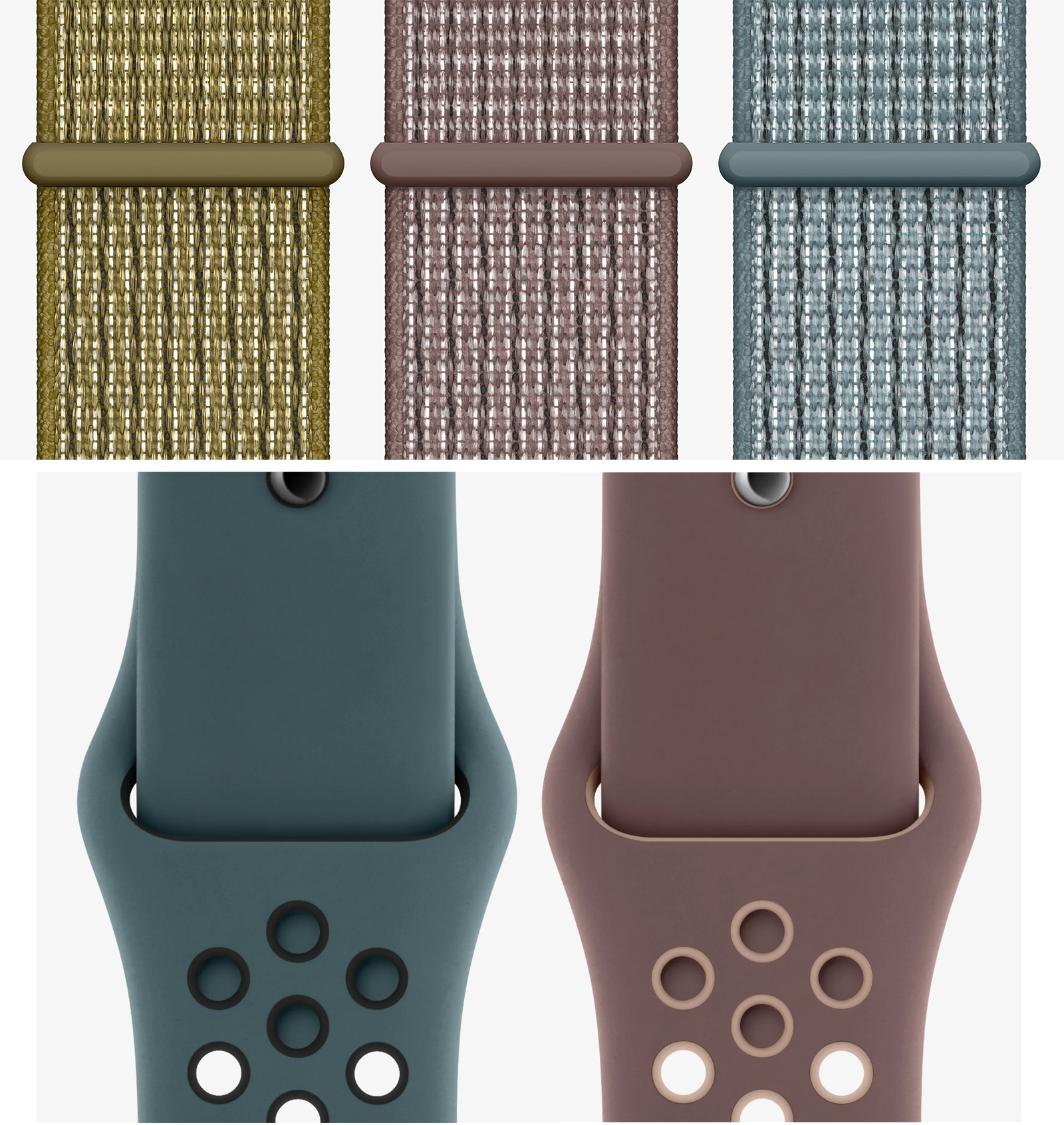 Nuevos colores de correas de Apple Watch en la web de Nike