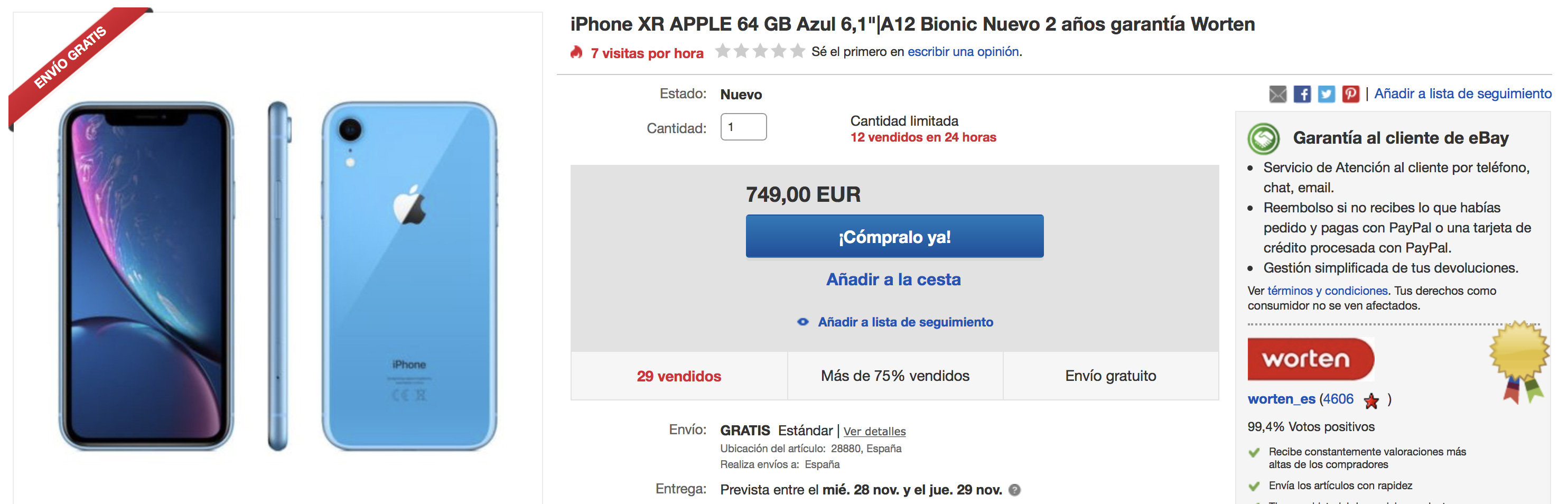 iPhone XR en eBay