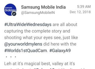 Tuit de Samsung Mobile India