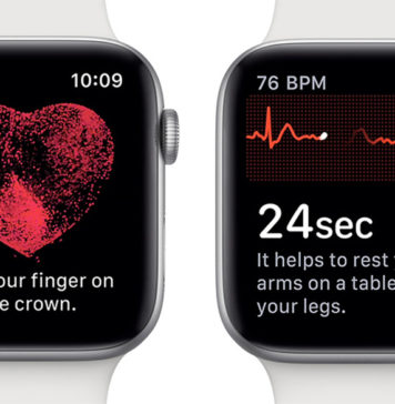 App de electrocardiogramas en el Apple Watch series 4