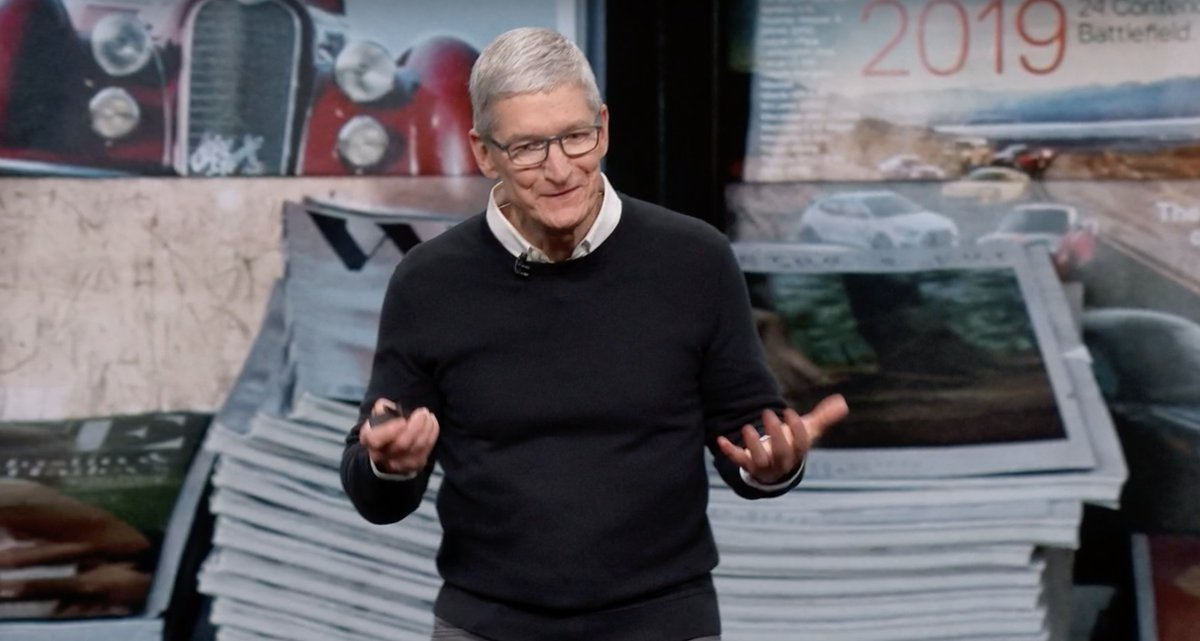 Tim Cook en la Keynote It's Show Time de Marzo de 2019