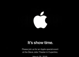 Evento especial de presentación de Apple: it's show time (invitación)