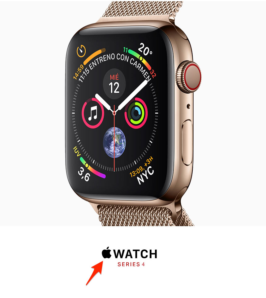 Apple Watch con el logo de Apple