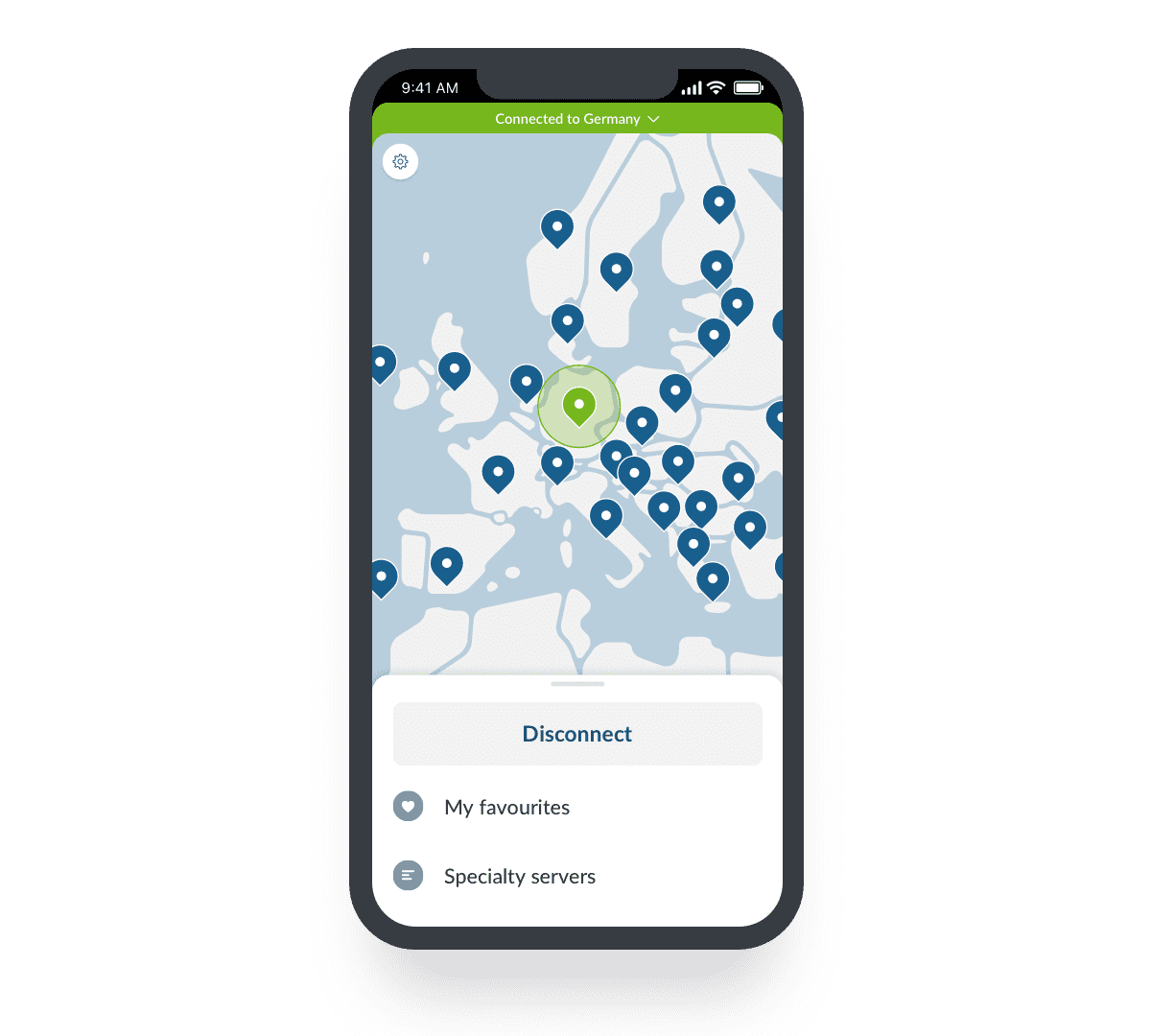 NordVPN en iPhone
