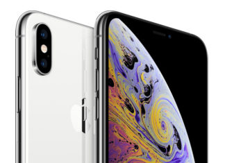 iPhone XS Max plateado y blanco