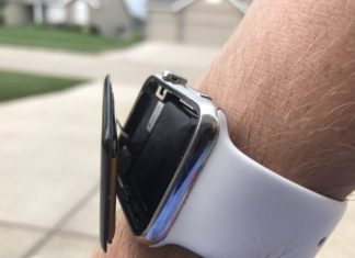 Apple Watch con la pantalla fuera