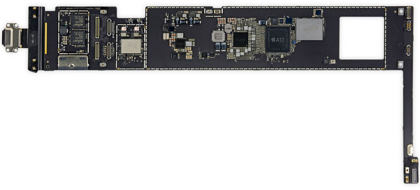 Placa base del iPad Air 3 con el A12 Bionic