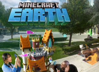 Jugando a Minecraft Earth