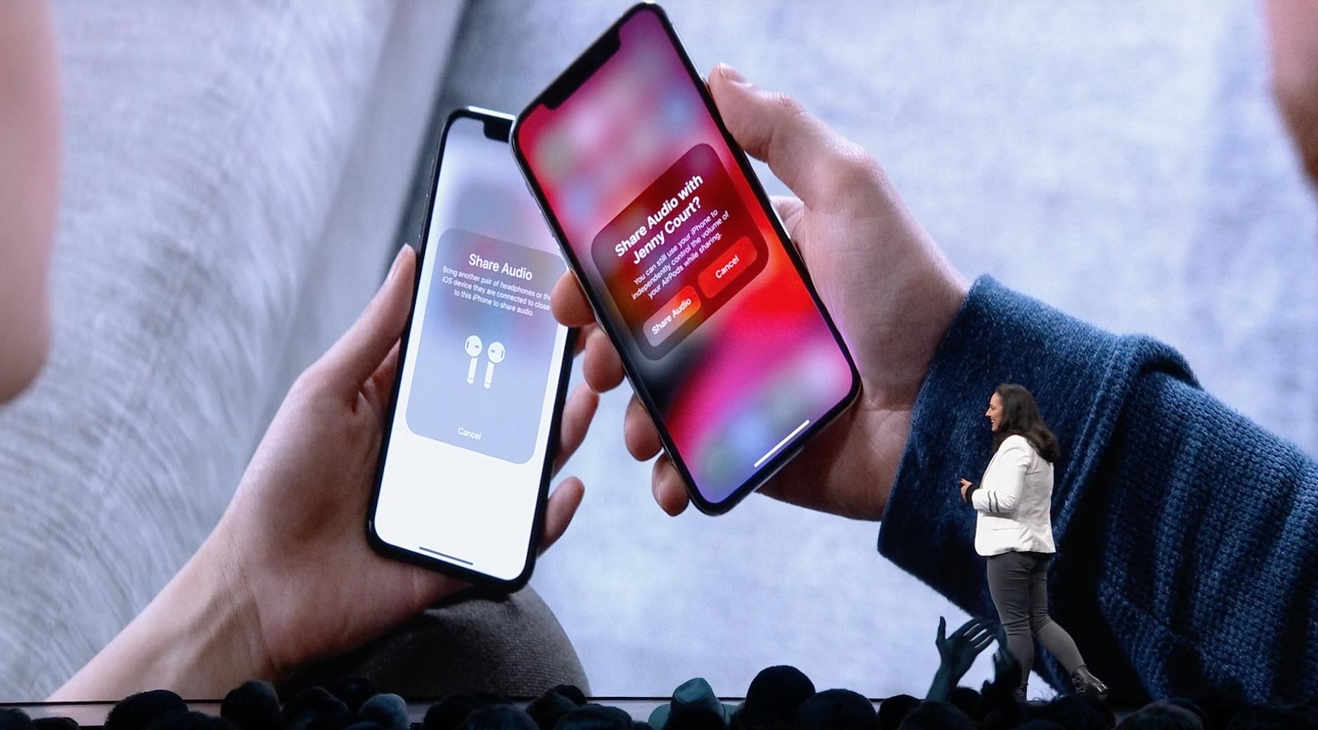 Compartir audio entre dos iPhones con iOS 13