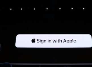 Sign in de Apple durante la presentación de iOS 13 en la WWDC 2019