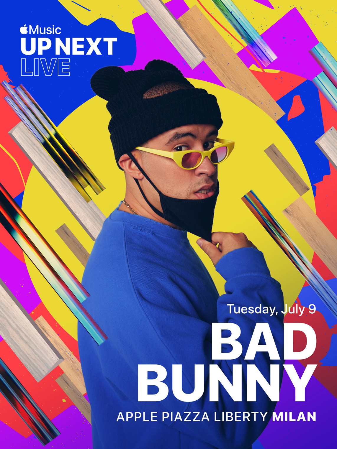 Concierto de Bad Bunny en una Apple Store