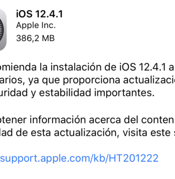 iOS 12.4.2 ya disponible