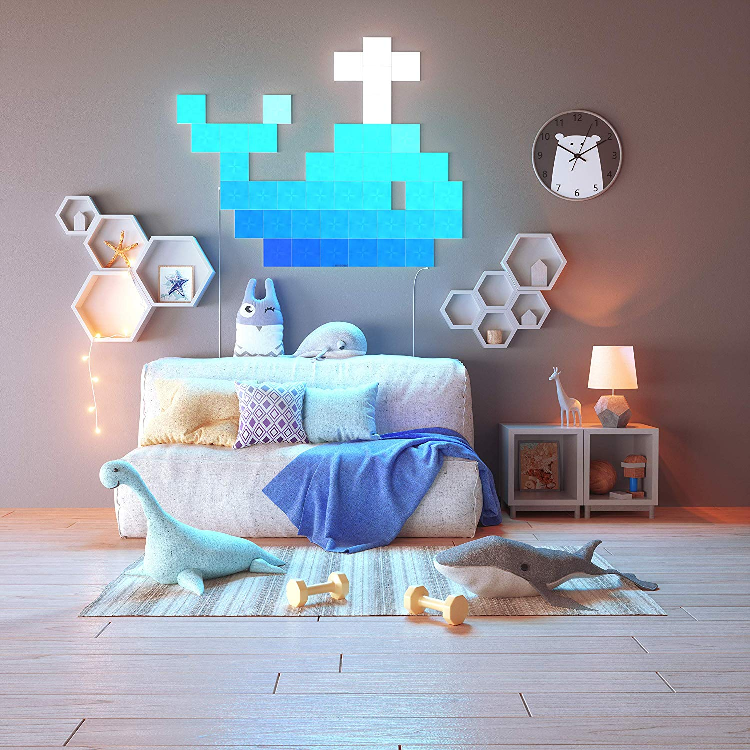 Ballena con Canvas LED de Nanoleaf