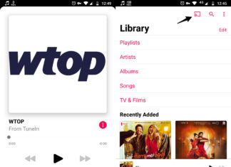 Chromecast en la App de Apple Music para Android