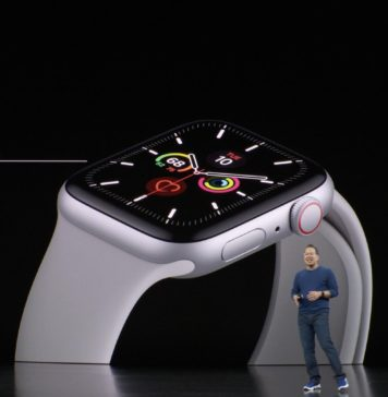Apple Watch series 5 (Keynote) tipo de pantalla always on