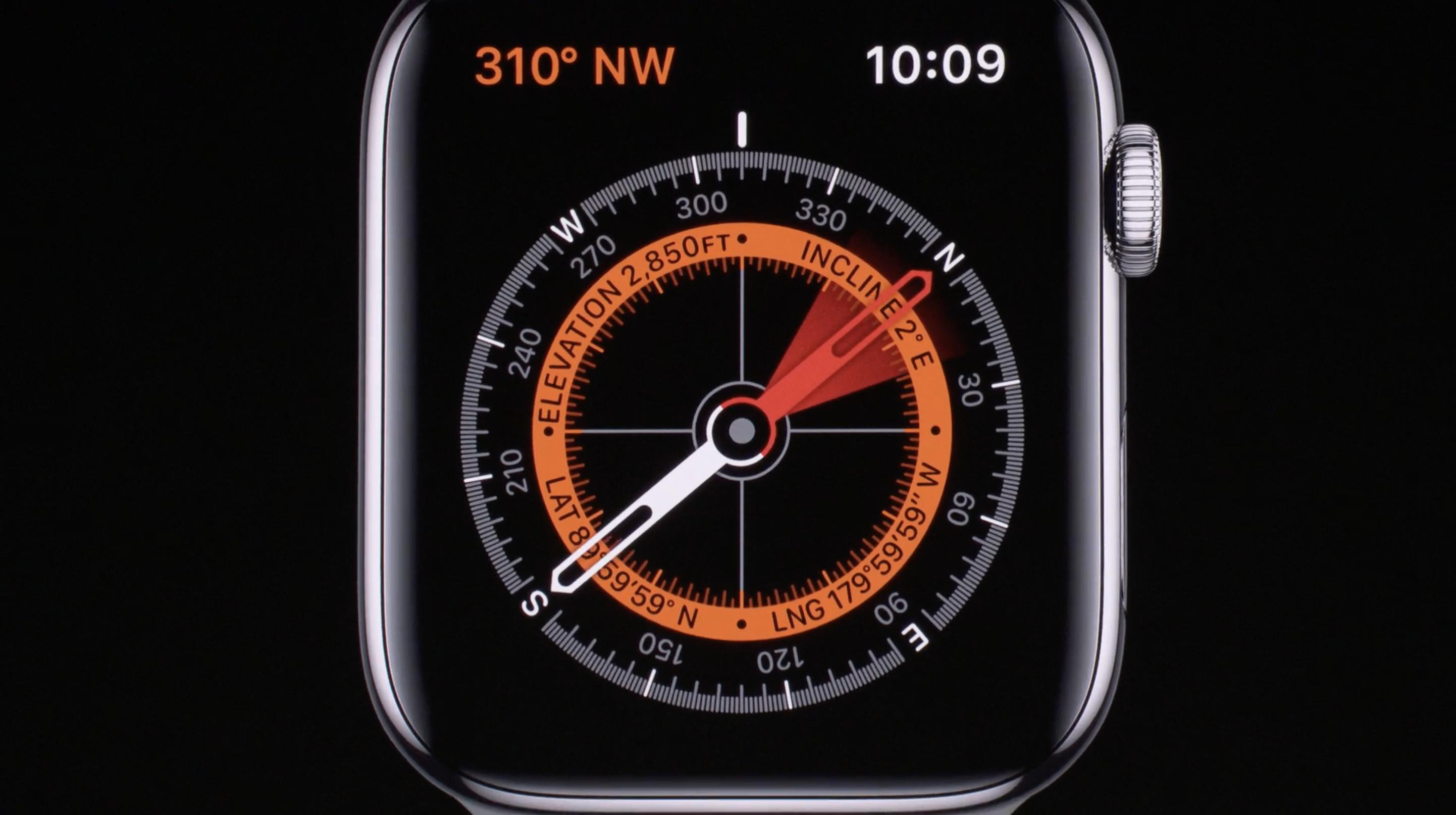 Brújula del Apple Watch series 5