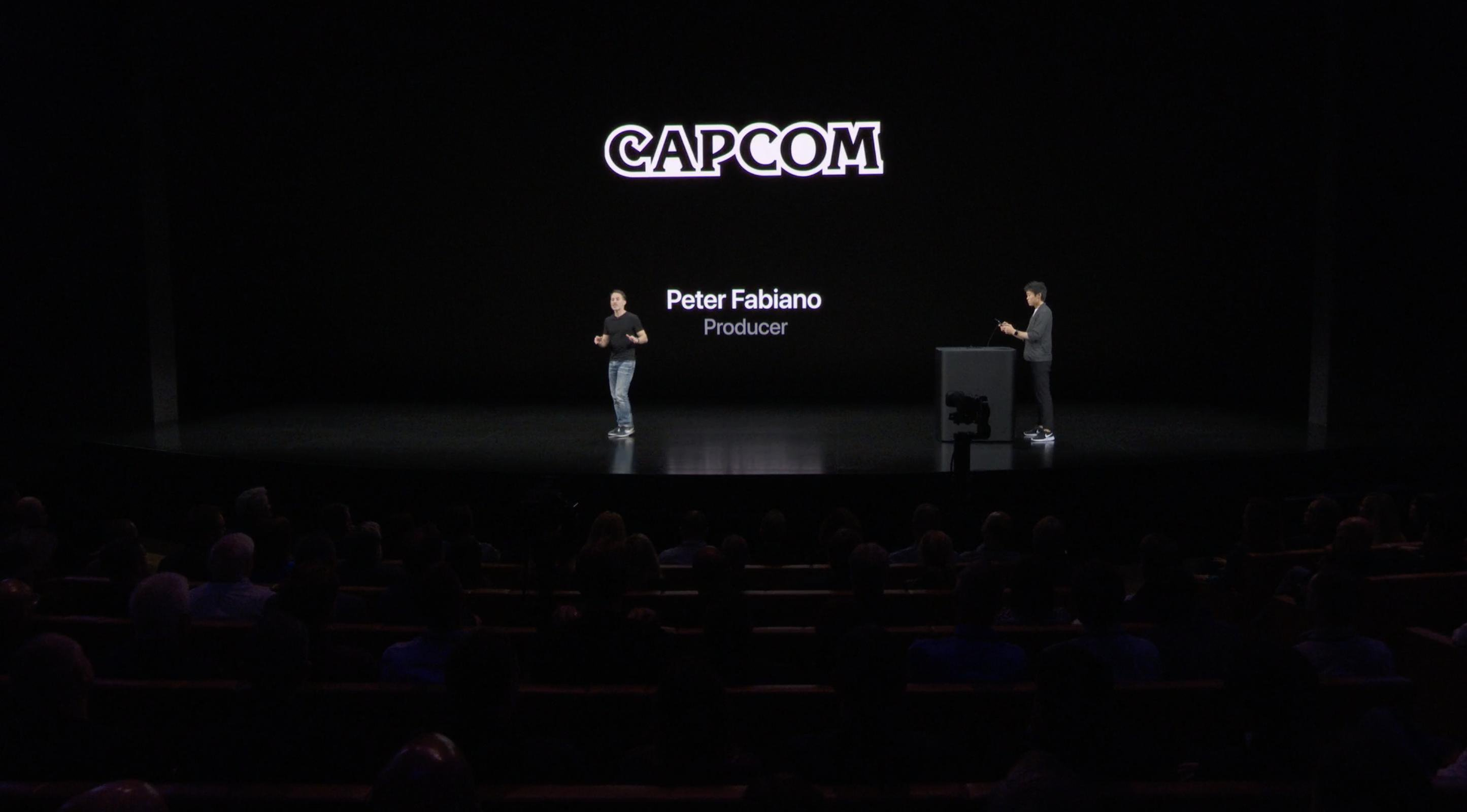 Capcom en el escenario de Apple