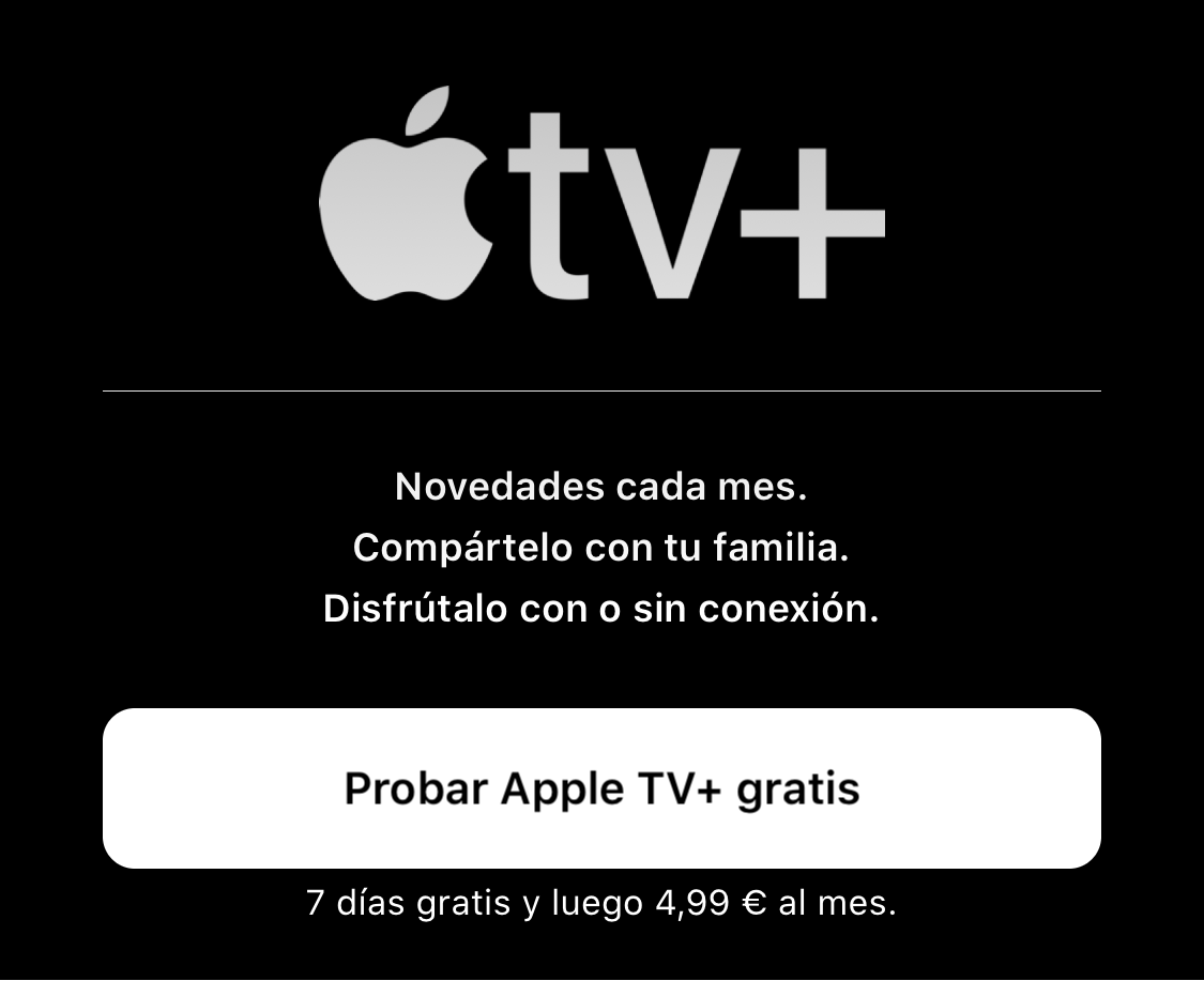 Apple TV ya disponible con una semana gratis, luego 4,99€ al mes
