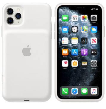 Smart Battery Case para iPhone 11 Pro, en color blanco