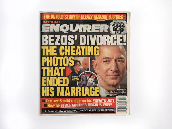 The National Enquirer destapa el divorcio de Bezos