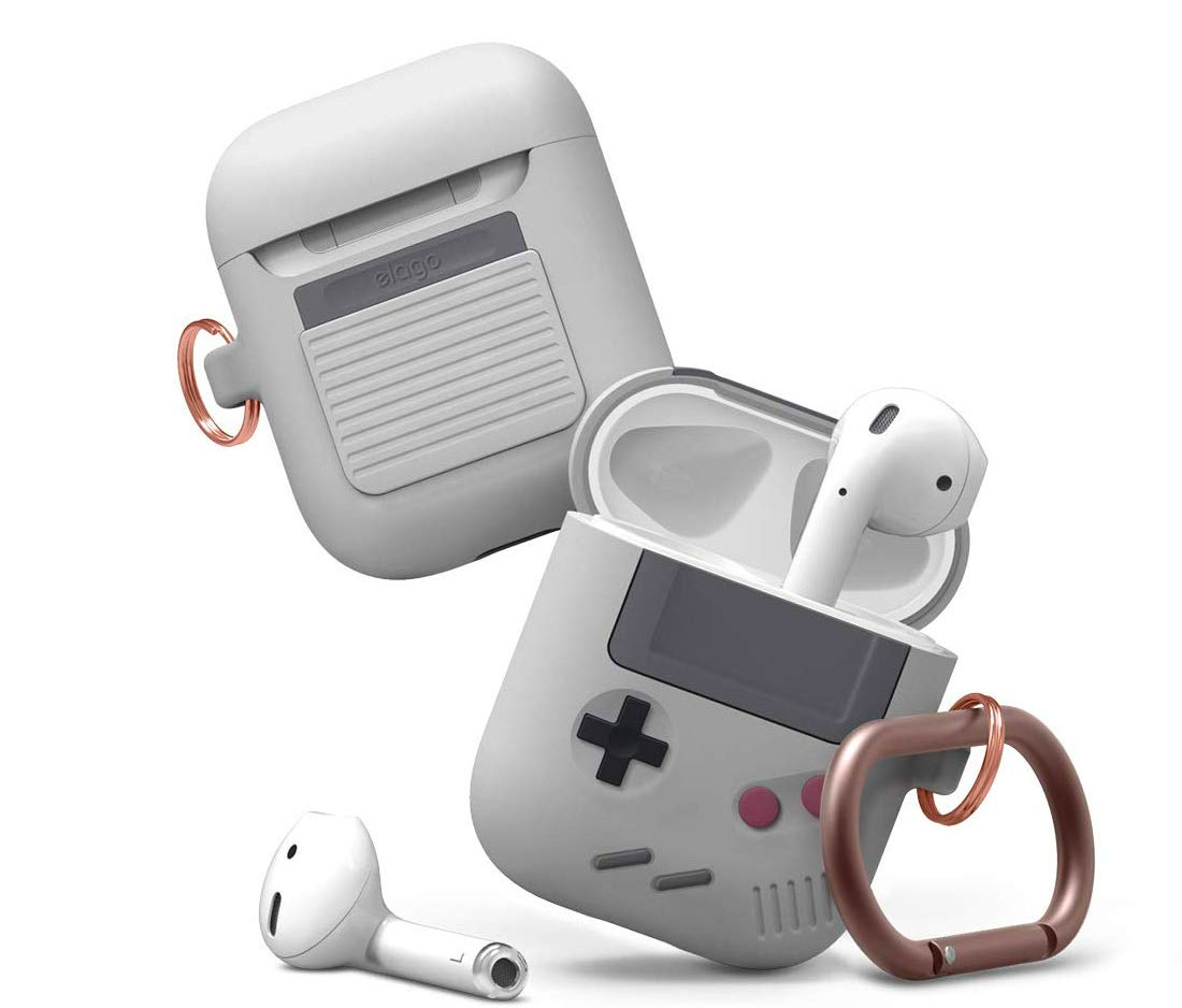 Funda para AirPods con estilo de Game Boy