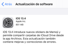 iOS 13.4 ya disponible