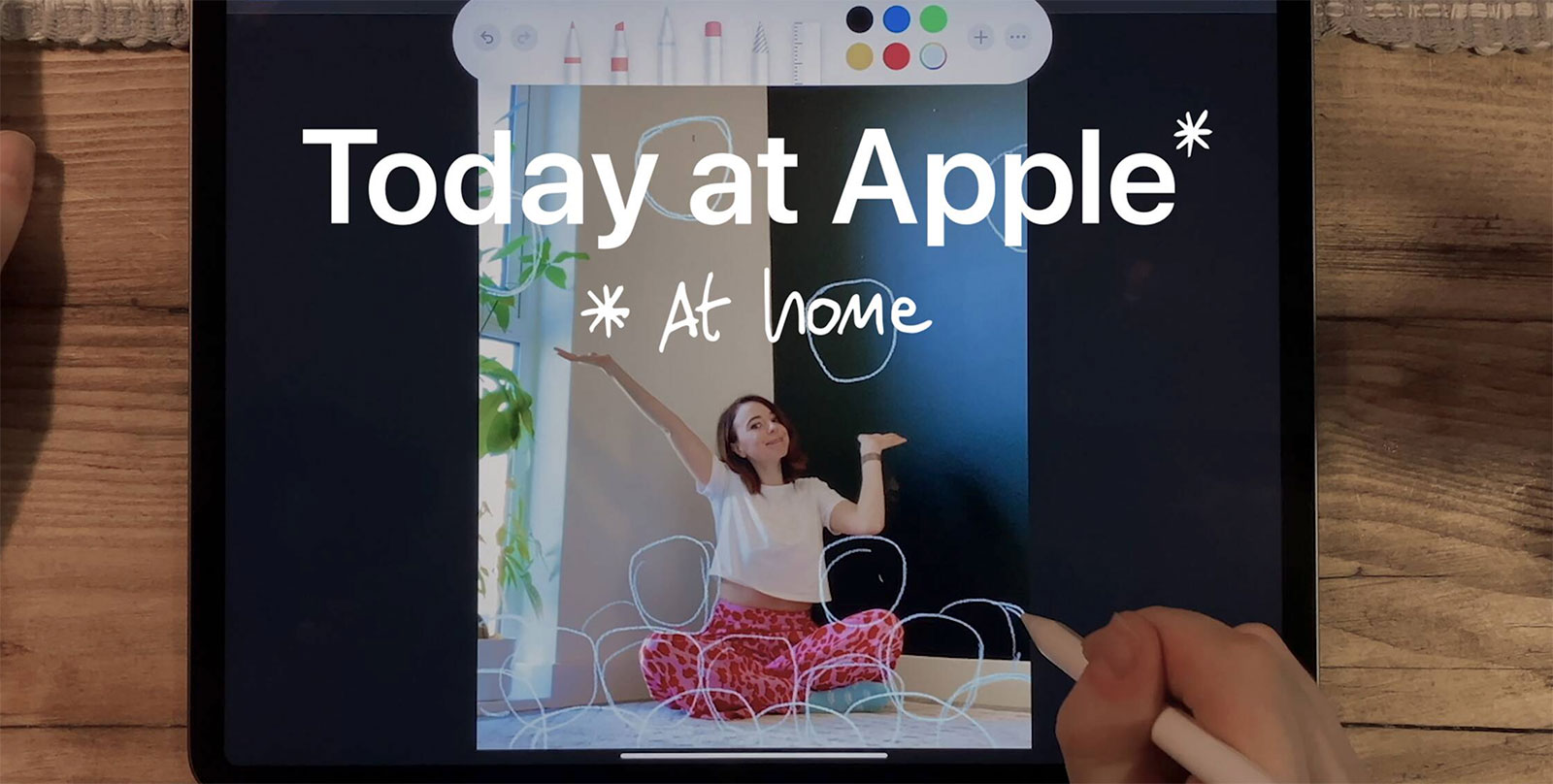 Today at Apple, at home
