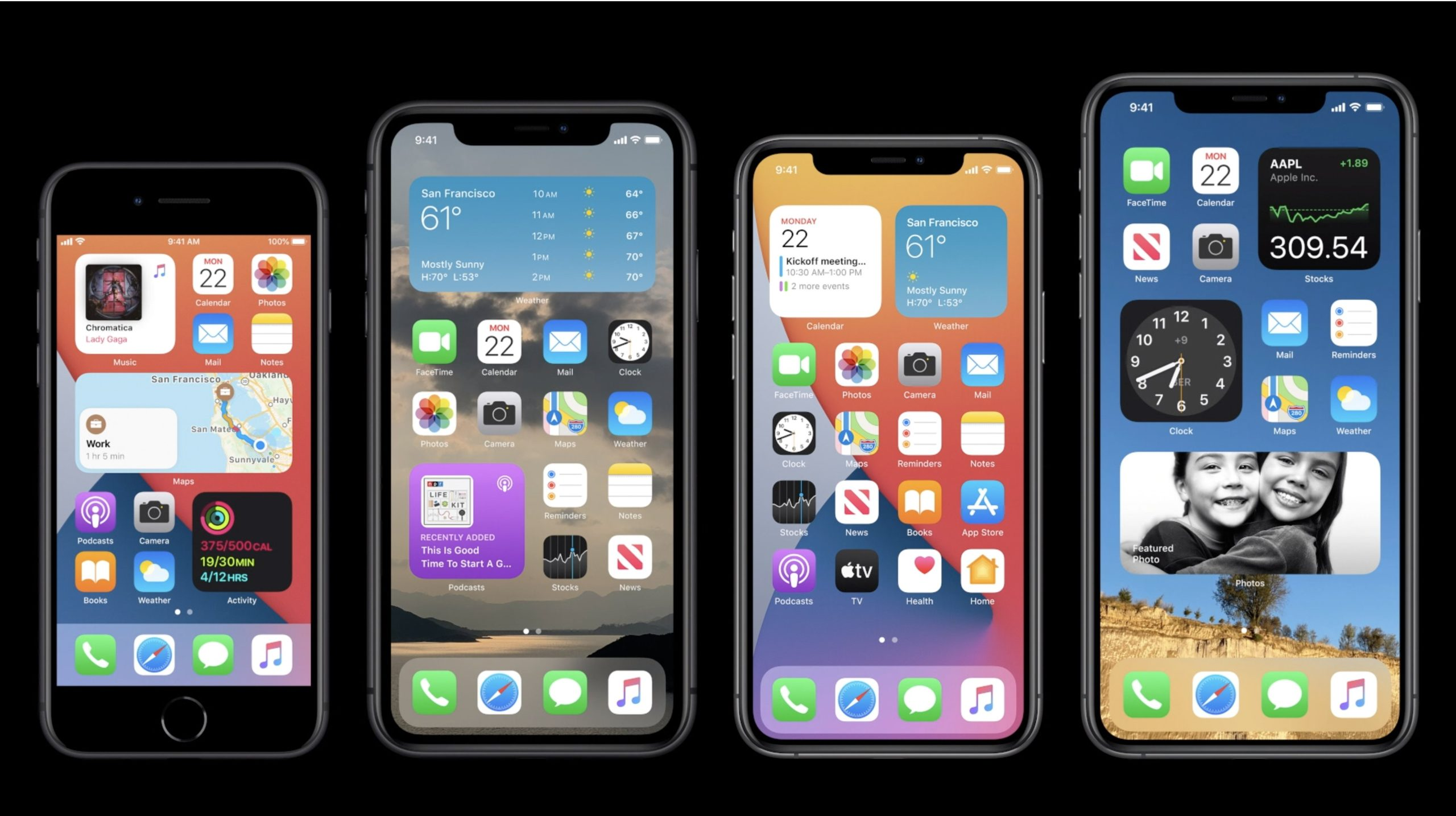iOS 14 en diferentes modelos de iPhone