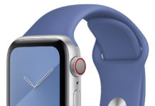 Correa de fluoroeslastómero en un Apple Watch