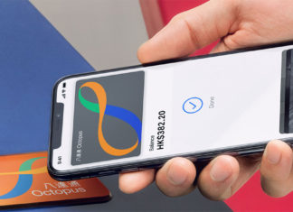 Tarjeta Octopus en un iPhone con Apple Pay