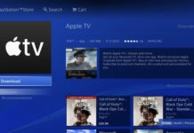 Apple TV en una PlayStation 4
