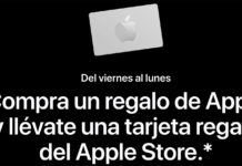 Tarjeta regalo de Apple en Black Friday