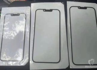 Supuesto panel frontal del iPhone 13