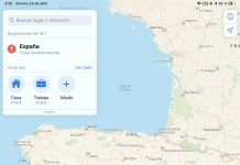 España y Portugal en Apple Maps