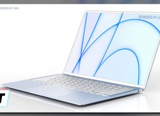 Concepto de diseño de MacBook Air azul